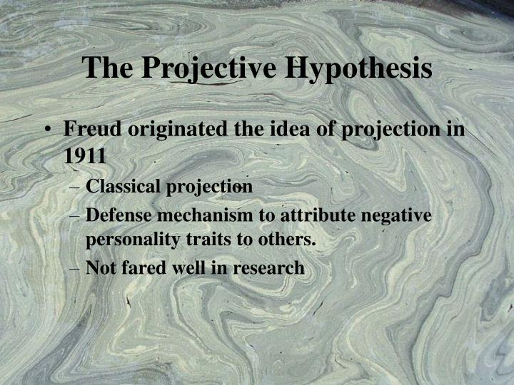 freud projection Freud believed that people used psychological projection to reduce their own stress or feelings of guilt, thus protecting themselves psychologically this psychological phenomenon is sometimes referred to as freudian projection in reference to dr freud's work in the field.