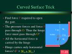 curved surface trick