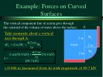 example forces on curved surfaces15