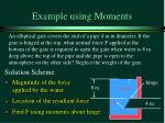 example using moments