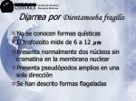 diarrea por dientamoeba fragilis