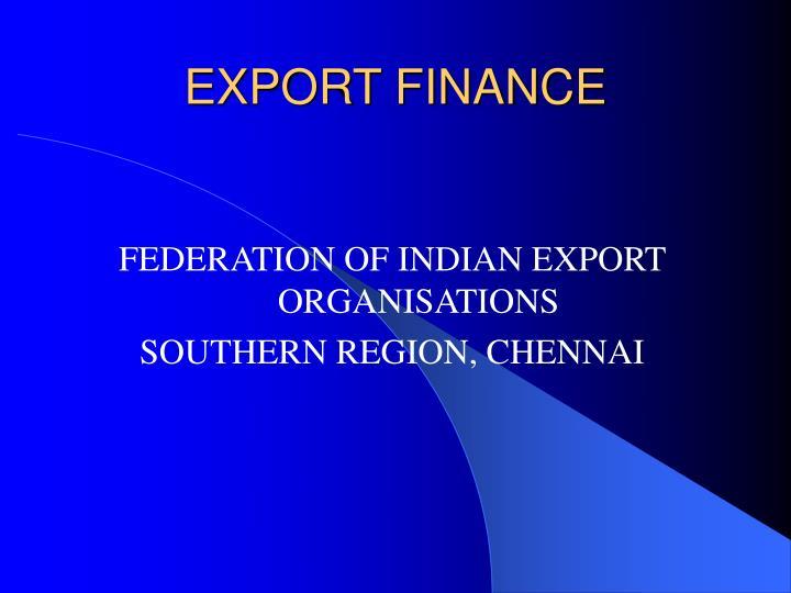 export finance n.