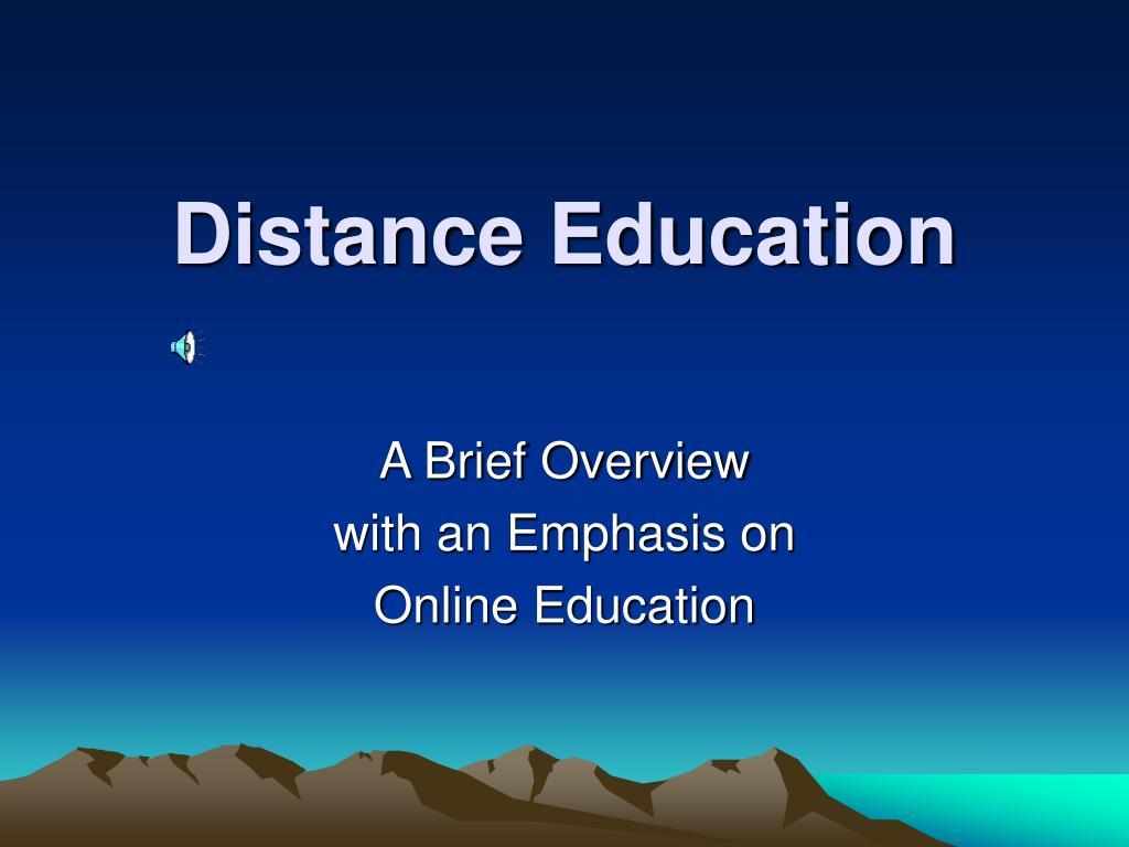 distance education l.