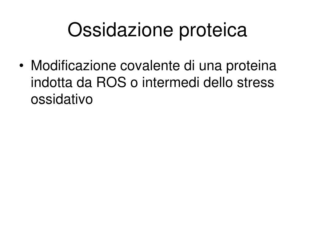 Ossidazione proteica