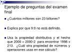 ejemplo de preguntas del examen final