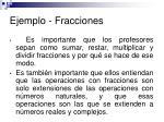 ejemplo fracciones