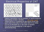 electrical properties of cnt
