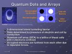 quantum dots and arrays