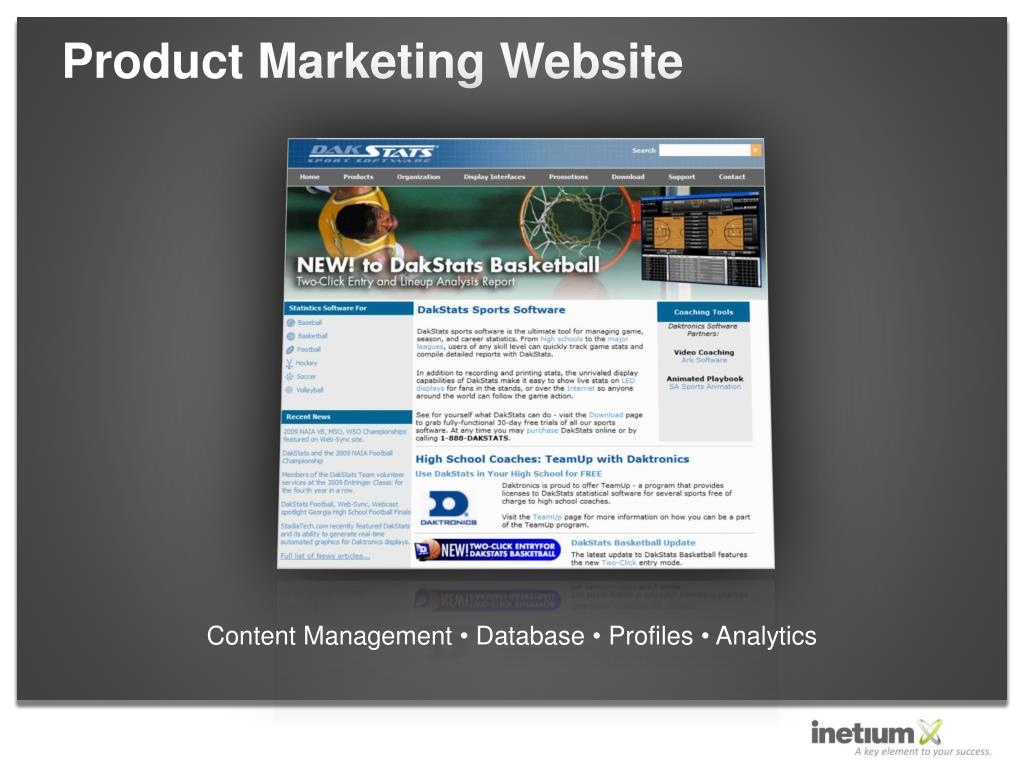 Product Marketing Website