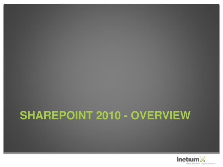 Sharepoint 2010 overview3