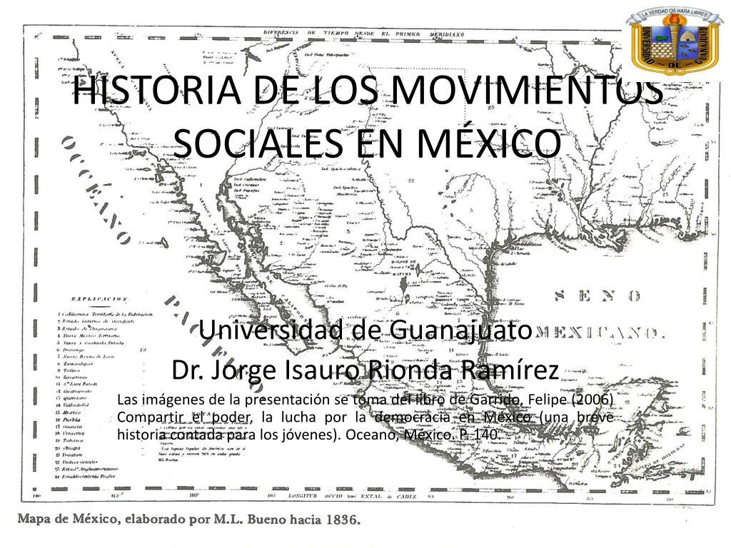 historia de los movimientos sociales en m xico l.