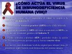 c mo act a el virus de inmunodeficiencia humana vih