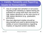 1 validity reliability and reporting issues for accountability