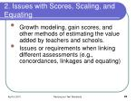 2 issues with scores scaling and equating