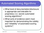 automated scoring algorithms