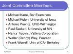 joint committee members4