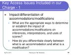 key access issues included in our charge 1