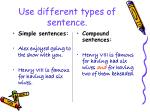 use different types of sentence
