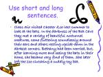 use short and long sentences