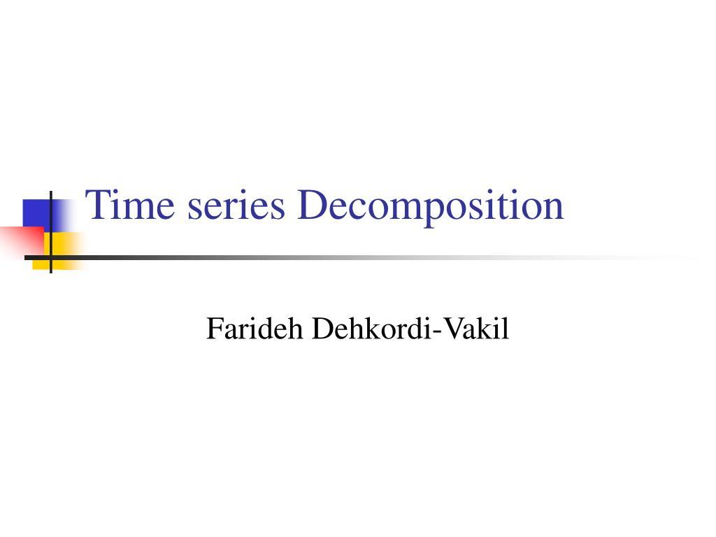 time series decomposition l.