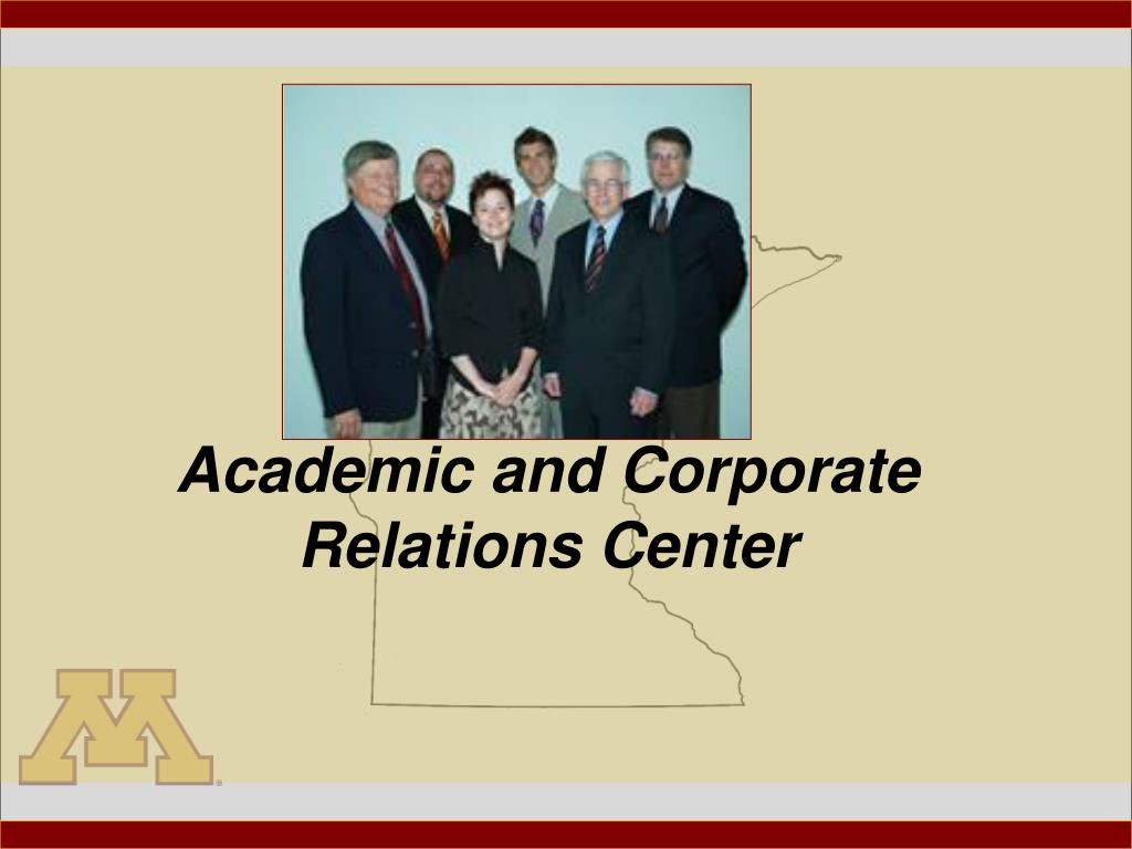 academic and corporate relations center l.