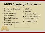 acrc concierge resources