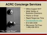 acrc concierge services
