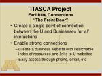 itasca project facilitate connections the front door