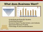 what does business want