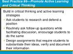 best practice 6 promote active learning and critical thinking
