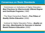 consensus on basic standards