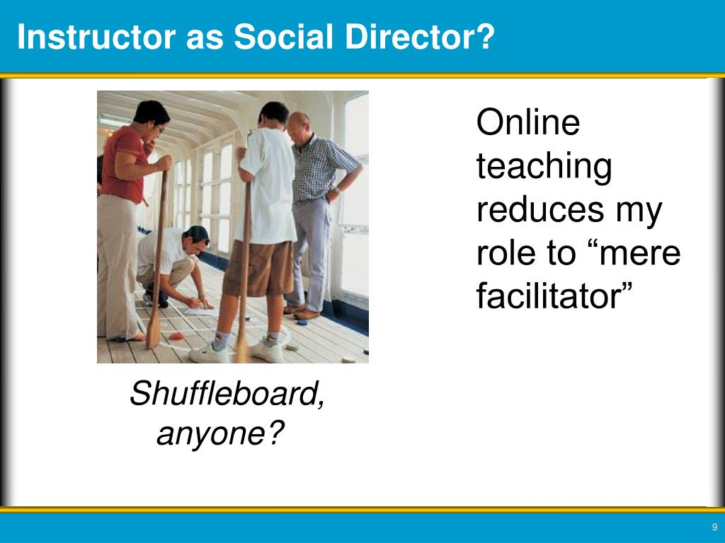 Instructor as Social Director?
