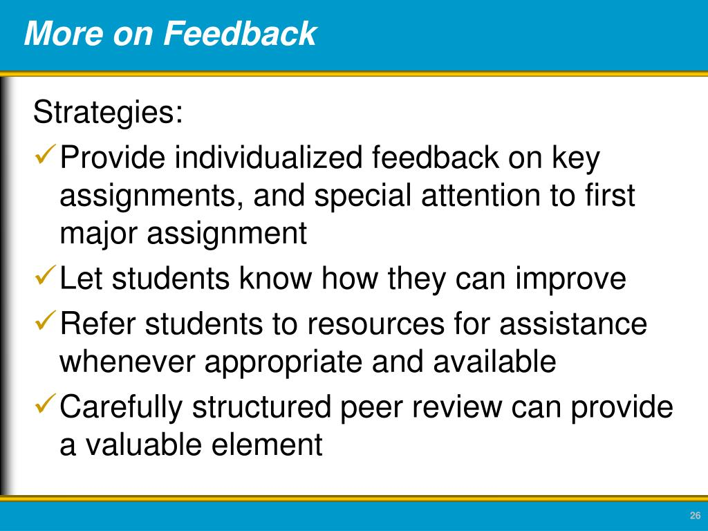 More on Feedback