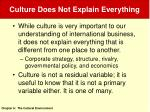 culture does not explain everything