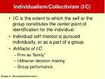 individualism collectivism i c
