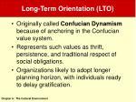 long term orientation lto