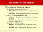 schwartz s classification