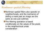 nonlinear spatial filtering