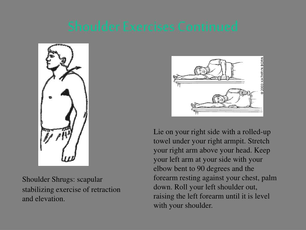 Shoulder Exercises Continued
