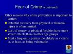 fear of crime continued15