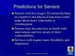 predictions for seniors