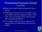 preventing financial crimes continued39