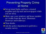 preventing property crime at home