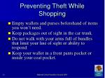 preventing theft while shopping