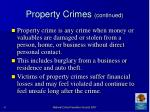 property crimes continued47