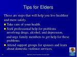 tips for elders