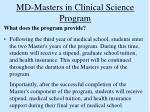 md masters in clinical science program19