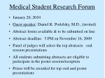 medical student research forum