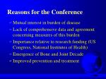 reasons for the conference