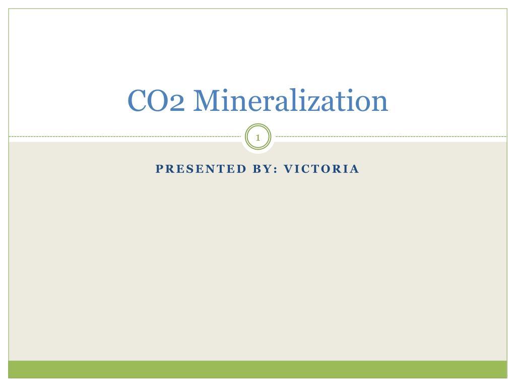 co2 mineralization l.